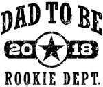 Rookie Dad To Be 2018 t-shirts