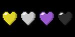 Non-Binary Pixel Hearts