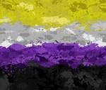 Non-Binary Paint Splatter Flag