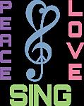 Choir Peace Love Sing Gifts