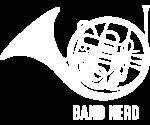 Band Nerd French Horn WHT