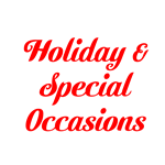 Special Occasions & Holidays