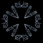 Stylized Iron Cross - Silver