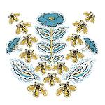 Blue Flower Bees