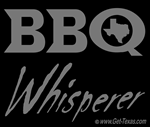 BBQ Whisperer Smoke Text on Black