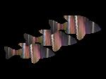 Copy of Fuchsia Fish Trio