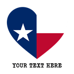 Custom Texas Flag Heart