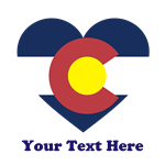 Colorado Flag Heart Personalized