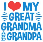 I Love My Great Grandma and Grandpa t-shirt