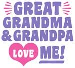 Great Grandma and Grandpa Love Me t-shir