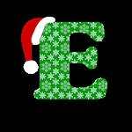Christmas  Letter E Monogram