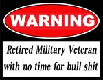 Warning Retired Military