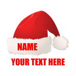 Christmas Santa Hat Personalized
