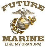 Future Marine Like My Grandpa t-shirts