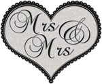 Mrs and Mrs Decorative Heart