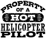 Property of a Hot Helicopter Pilot t-shirt
