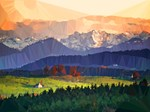 Mountain Meadow Low Poly Landscape