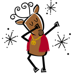 Dabbing Dancer Reindeer