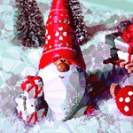 Super Cute Santa Claus Toadstools