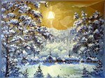 Snowy Forest Christmas Landscape