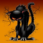 Black Cat Evil Angry Funny Character