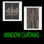 WINDOW CURTAINS 84 and 60 INCH