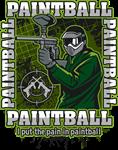 Paintball Player Green Team