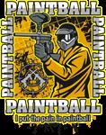 Paintball Player Yellow Team
