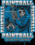 Paintball Player Blue Team