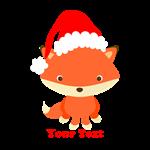 Christmas Santa Fox