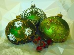 Christmas Ornaments Low Poly
