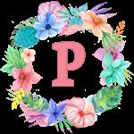 Lush Watercolor Wreath Monogram