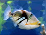 Reef Fish Low Poly Nature
