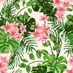 Pink Tropical Low Polygon Art