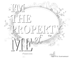 'Property of Me' Bold Wht.