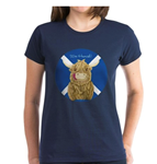 Personalised Wee Hamish Highland Cow Saltire