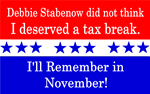 Debbie Stabenow No Tax Breaks