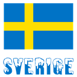 Sweden Flag and Word