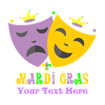 Mardi Gras Personalized