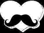 Mustache Heart BLK