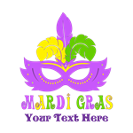 Mardi Gras Mask Personalized