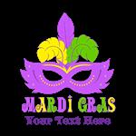 Mardi Gras Mask Personalized