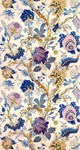 Blue Gold Antique Floral