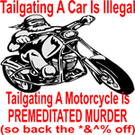 Tailgating A Car Is Illegal