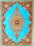 Blue Floral Persian Carpet