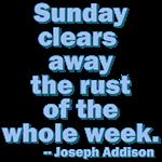 Sunday Clears Away