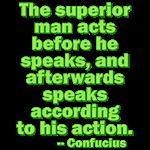 Act Before Speaking