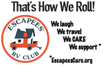 That's How We Roll!-Escapees RV Club logo
