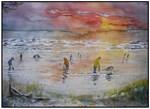 Clam Tide Sunset