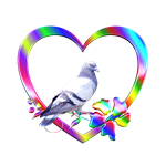 <b>PIGEON IN COLORFUL HEART</b>